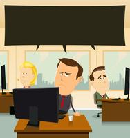 Depressão no escritório vetor