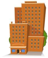 Edifício grande dos desenhos animados vetor