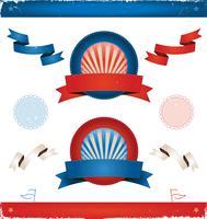 Eleições nos EUA - Fitas e Banners vetor