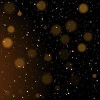 bokeh ouro brilhante estrelas douradas e prateadas cintilantes vetor