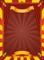 Poster de circo vintage vetor