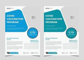 modelo de folheto de vacinação. folheto de clínica de vacinação. modelo de folheto de vacina. folheto de vacinação cobiçado vetor