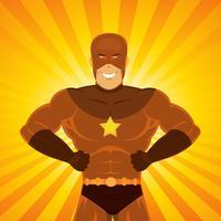 Super-herói de quadrinhos vetor