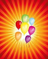 Festa de Balões de Verão! vetor