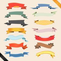 Banners de desenhos animados e fitas vetor