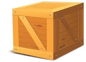 Caixa de madeira vetor