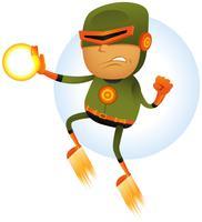 Super-herói em quadrinhos voador vetor