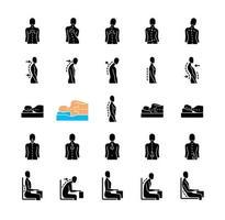 problemas de postura e costas vetor