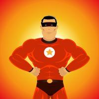 Super-herói em quadrinhos vetor
