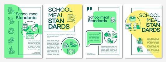 modelo de folheto de padrões de alimentação escolar vetor
