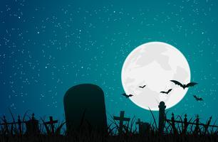 Cemitério do Dia das Bruxas vetor