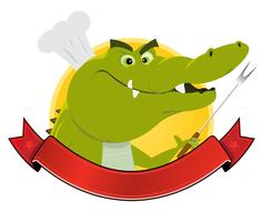 Banner de restaurante de crocodilo vetor