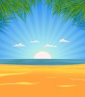 Paisagem de praia de verão