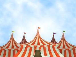 Fundo de tendas de circo vetor