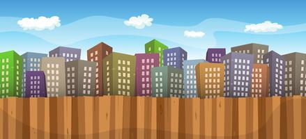 Fundo de paisagem urbana de verão ou primavera