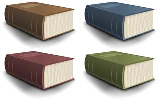 Grande coleção de livros antigos vetor