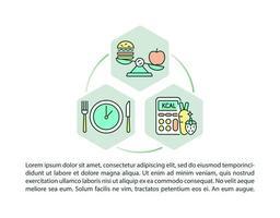 ícones de linha de conceito de padrões de refeição escolar com texto. modelo de vetor de página ppt com espaço de cópia. folheto, revista, elemento de design de boletim informativo. lanches cheios de vegetação em ilustrações lineares de cafeteria em branco