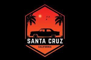 santa cruz califórnia cor laranja vetor