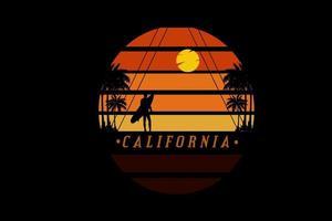 califórnia cor laranja e preto vetor