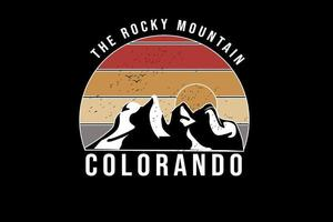 a montanha rochosa do Colorado cor laranja e amarelo vetor