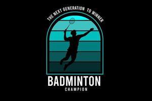 badminton cor verde e branco vetor