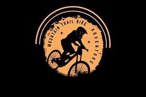 mountain trail bike aventura cor amarelo claro vetor