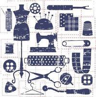 design de ícones de alfaiataria vetor