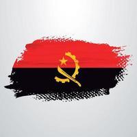 escova de bandeira de angola vetor