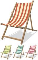 Conjunto de cadeiras de praia vetor