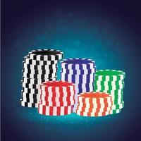 moeda real de casino vetor
