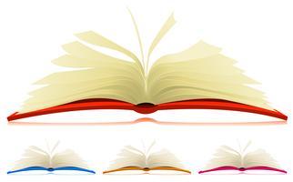 Conjunto de livro aberto vetor