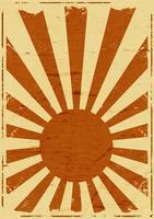 fundo de raios de sol japonês grunge vetor