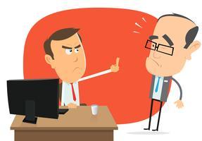 Respostas de colarinho branco com raiva para o chefe vetor