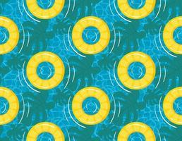 anel de borracha ou anel inflável padrão sem emenda vetor