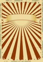 Fundo de raios de sol de grunge vetor