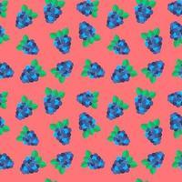 ilustração vetorial. backgound sem costura. costura padrão com floresta berry blackberry em rosa. vetor