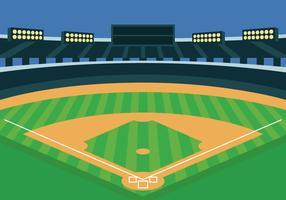 Ilustração de vetor de parque de beisebol