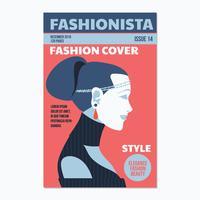 Design de capa de revista de mulher boêmio vetor
