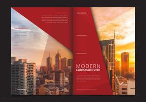 Modelo de folheto profissional. Modelo de Folheto - marketing de negócios vetor
