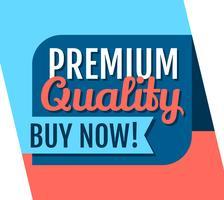 Qualidade premium vetor