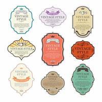 conjunto de etiquetas e emblemas vetor