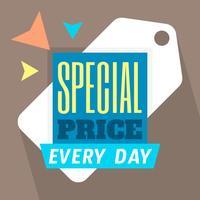 Preço especial vetor