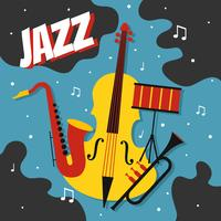 Vetor de cartaz de jazz