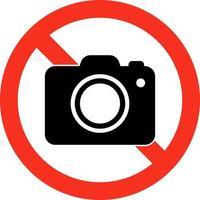 sinal de proibição de uso de telefones celulares e câmeras fotográficas vetor