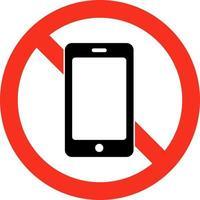 nenhum sinal de restrição de uso de telefones celulares vetor