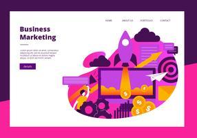 Modelo de vetor de Banner de elementos de Marketing de negócios