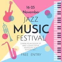 Vetor de festival de música jazz