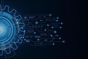 tecnologia digital e engenharia, conceito de telecomunicações digitais, fundo de tecnologia futurista de alta tecnologia, ilustração vetorial. vetor
