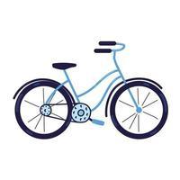 transporte de bicicleta azul vetor