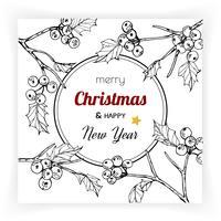 Origens de Natal e ano novo e cartão vetor